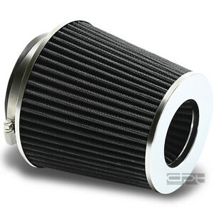 4 6 75 H Cold Short Ram Intake Round Cone Black Dry Air Filter 3 3 5 Reducer