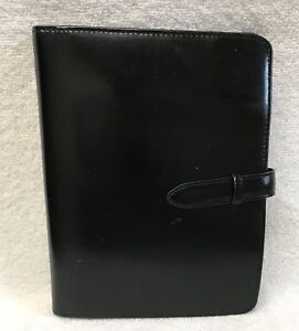 Classic Franklin Covey Leather Ring Binder Planner Organizer 7 25x9 25x1 Black