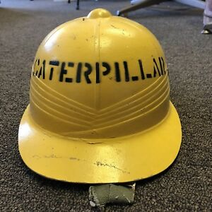Vintage Caterpillar Hard Hat Safety Helmet For Workers