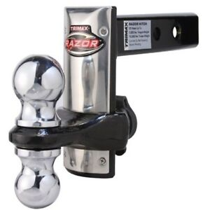 Trz6sfp Trimax Razor Stainless Face 6 Adjustable Ball Mount Hitch