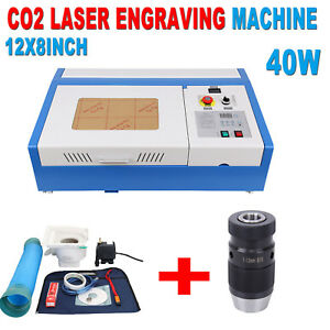 40w Co2 Usb Laser Engraving Cutting Machine 12x8in Woodworking b16 Lathe Drill