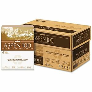 Boise Aspen Recycled Office Paper case Of 5 000 Sheets
