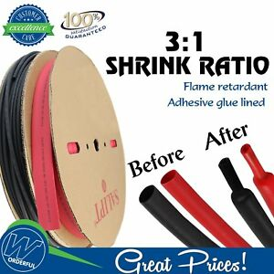 15ft each 3 1 Ratio Heat Shrink Tubing 3 4 Electrical Insulation Strain Relief
