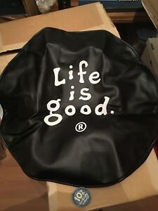 Life Is Good Lig Logo Stacked Tire Cover Fits 28 Inch Diameter Nwt