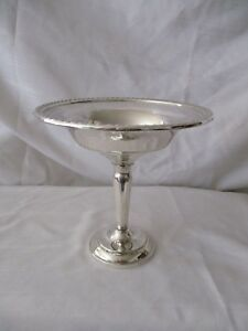 Hamilton Sterling Silver Pierced Compote Candy Dish Bowl Weighted Bottom