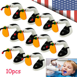 10pcs Dental Led Curing Light Lamp Wireless Cordless Resin Cure 5w 2000mw Cl6