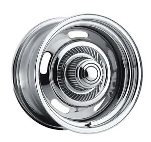 Vision Wheel 57 5761 Single 15x7 57 Rally 5x4 75 5x120 65 6 Offset Chrome Wheel