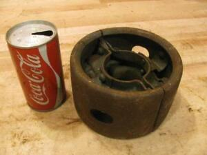 Antique Vintage Hit Miss Gas Steam Engine Line Shaft Flat Belt Pulley 6 X 3 5