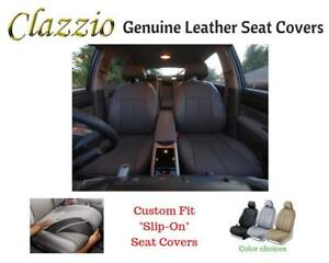 Clazzio Genuine Leather Seat Covers For 2009 2011 Toyota Tacoma Double Cab Black