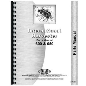 New International Harvester 600 Tractor Parts Manual