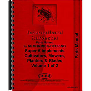 New International Harvester A Cultivator Parts Manual