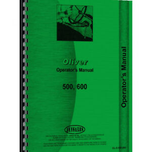 Tractor Operator Manual For Oliver 600