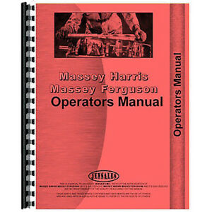 Operator s Manual For Massey Harris 21 Combine self propelled