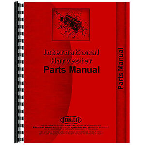 Tractor Parts Manual For International Harvester Cub Cadet 382 Lawn Tractor