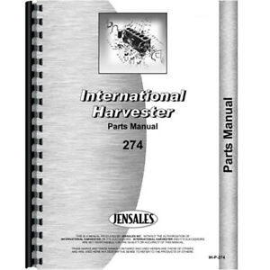 New International Harvester 274 Tractor Parts Manual