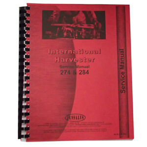 New International Harvester 274 Tractor Service Manual