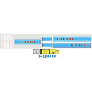 9000 Ford Diesel Tractor Complete Decal Kit Set 68 69 70 71 72 73 74 75