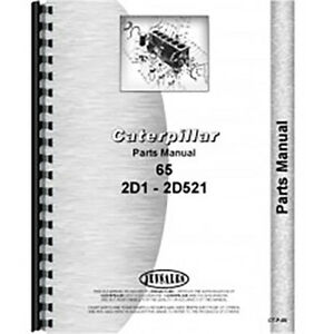 For Caterpillar 65 Tractor Parts Manual new