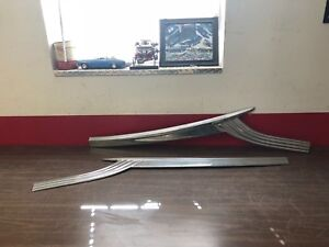 1956 Ford Fairlane 2 Door Rh And Lh Door Trim Panel Mouldings Pair Nos 1018