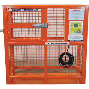 Esco Equipment 90422 50 Automatic Hd Tire Inflation Cage