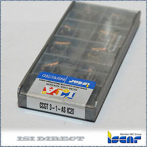 Ccgt 3 1 As Ic20 Iscar 10 Inserts Factory Pack