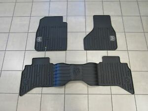Dodge Ram 1500 Quad Cab Rubber Floor Mat Set Front Rear New Oem Mopar