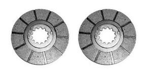 Set Of 2 Spline Brake Discs For Farmall Ih 560 660 Replaces A1975446c2 12