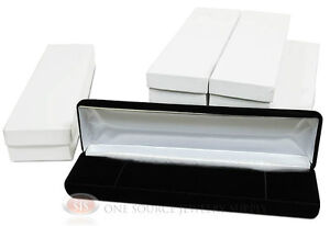 6 Piece Bracelet Black Velvet Metal Jewelry Display Boxes 8 w X 2 d X 1 1 8 h