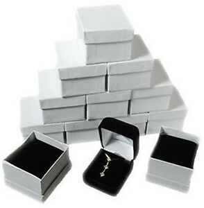 12 Piece Black Velvet Necklace Earrings Jewelry Gift Boxes 1 7 8 X 2 1 8