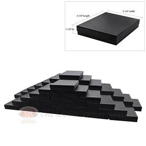 Large 50 Black Swirl Cotton Filled Jewelry Gift Boxes 6 1 8 X 5 1 8 X 1 1 8 h