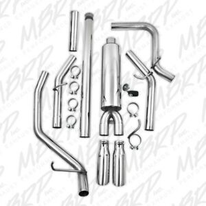 Mbrp Cat Back Exhaust Dual Side Exit For 14 18 Silverado Sierra 1500 4 3l 5 3l
