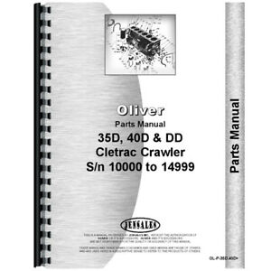 New Oliver 40d Tractor Parts Manual