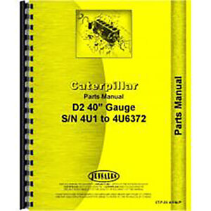For Caterpillar D2 Tractor Parts Manual new