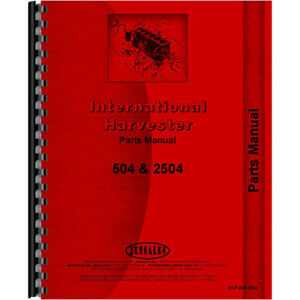 New International Harvester 2504 Tractor Parts Manual