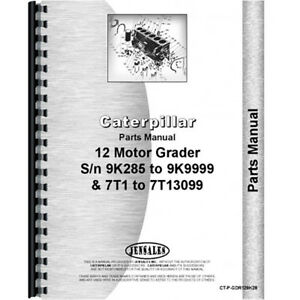 For Caterpillar Grader 12 9k2001 9k2853 Parts Manual