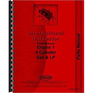 New International Harvester 140 Tractor Engine Parts Manual