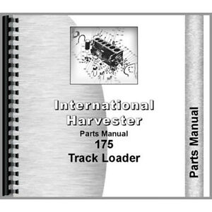 New International Harvester 175 Tractor Parts Manual