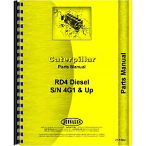 For Caterpillar Rd4 Tractor Parts Manual new