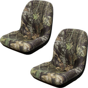 Two 2 Milsco Camo Camouflage Low Back Seat Lva10029 For John Deere Jd Gators