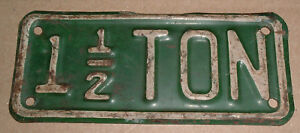 Vintage 1 1 2 Ton Truck License Plate Topper Accessory Ford Gm Chevrolet Dodge