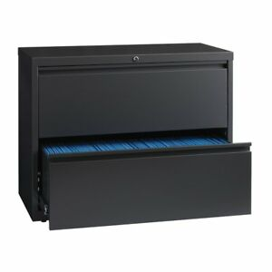 8000 Series 36 Wide 2 drawer Lateral File Cabinet Charcoal