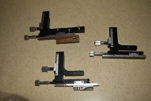 Microscope Stage Gauges Lot Of 3