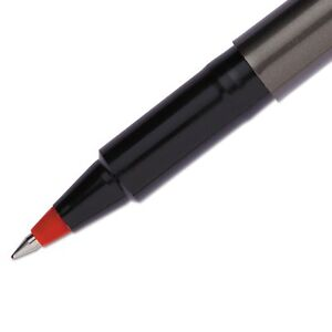 Uni ball Deluxe Roller Ball Stick Waterproof Pen Red Ink Micro Dozen