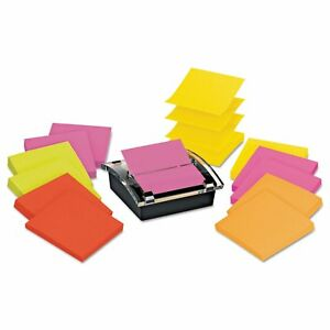Post it Pop up Notes Super Sticky Pop up Dispenser Value Pack 3 X 3 Black clear