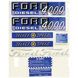 Tractor Decal Kit For Ford 4000 Diesel 1962 1964 Select o speed