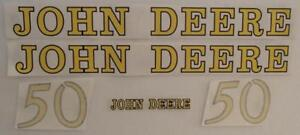 Jd50 Hood Decal Set Made For John Deere Tractor 50