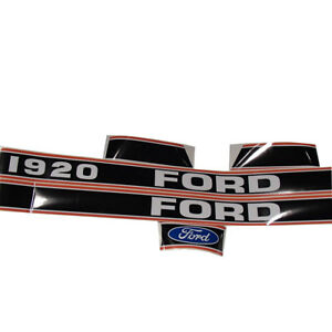 Hood Decal Set For Ford 1920 Compact Tractor