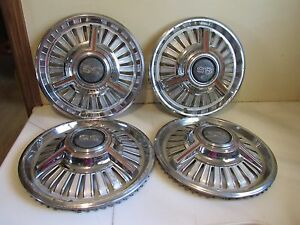 Vintage Oem Set Of 4 1965 1966 Chevy Chevelle Chevy Ii Nova Ss Hubcaps 14