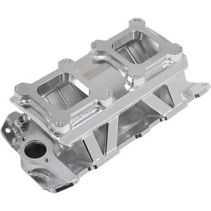 Holley 825071 Sniper Fabricated Intake Manifold Small Block Chevy Dual Quad Sing
