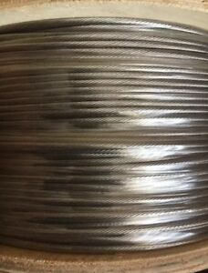 500 1 8 1x19 Wire Rope Cable Sailing Deck Railing Stainless Steel Type 316